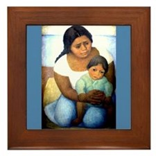 Diego Rivera Mother & Child Art Framed Tile