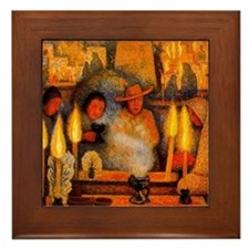 Diego Rivera Day of the Dead Art Framed Tile