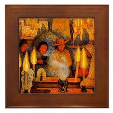 Diego Rivera Day of the Dead Art Framed Tile