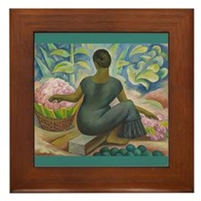 Diego Rivera Xochimilco Art Framed Tile