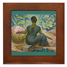 Diego Rivera Xochimilco Art Framed Tile