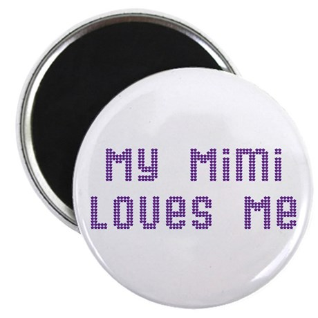 My Mimi Loves Me! (Pink/Blue Stars) Magnet