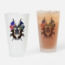 Navy Mustang Drinking Glass