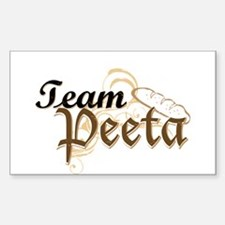 Team Peeta Sticker (Rectangle)
