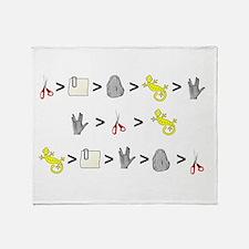 Rock Paper Scissors Lizard Sp Throw Blanket