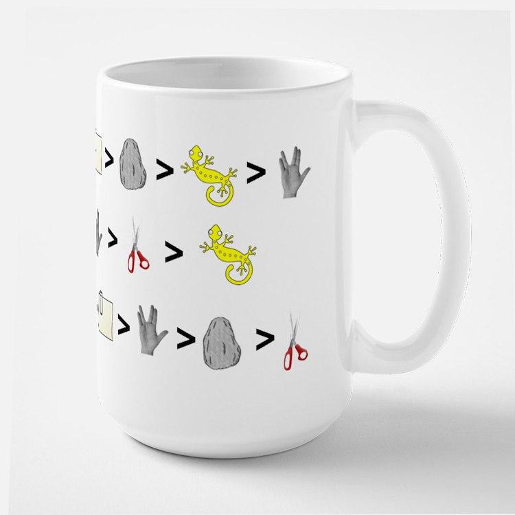 Rock Paper Scissors Lizard Sp Large Mug