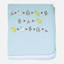 Rock Paper Scissors Lizard Sp baby blanket