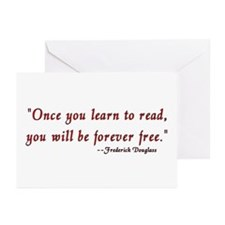 """Once you learn to read..."" Douglass Greeting Card"