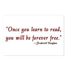 """""""Once you learn to read..."""" Douglass Postcards (Pa"""