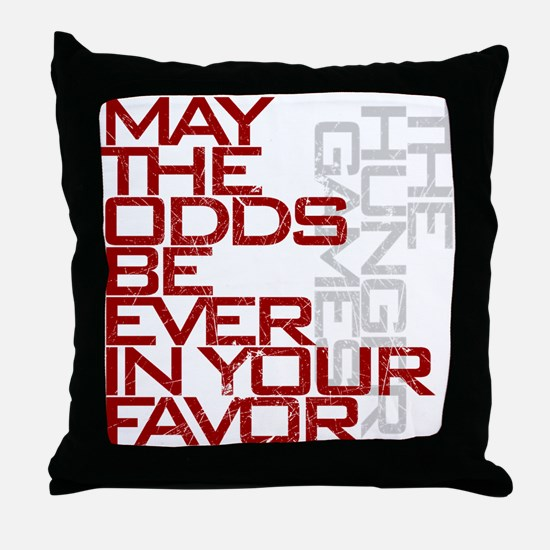 Hunger Games words Throw Pillow