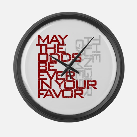 Hunger Games words Large Wall Clock