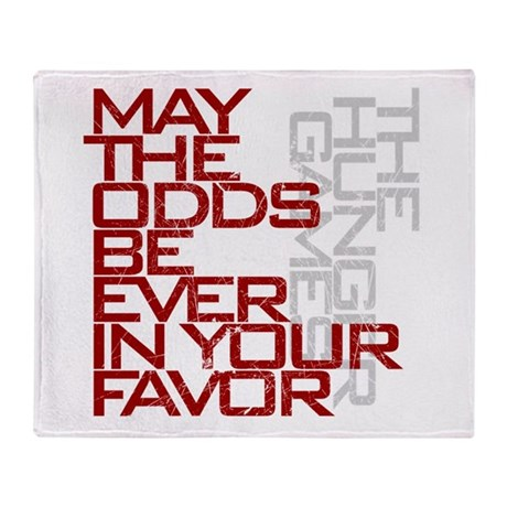Hunger Games words Throw Blanket