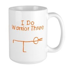Orange Warrior Three Mug