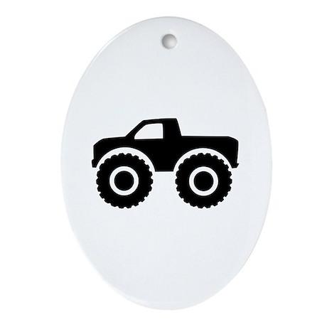 Monster truck Ornament (Oval)