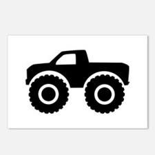 Monster truck Postcards (Package of 8)