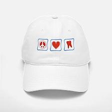 Peace, Love and Dentists Baseball Baseball Cap