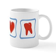 Peace, Love and Dentists Mug