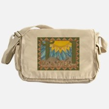 A is for Armadillo Messenger Bag