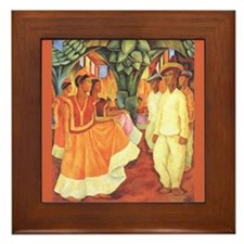 Diego Rivera Tehuantepec Dance Art Framed Tile