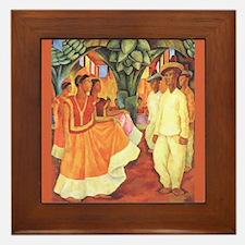 Diego Rivera Tehuantepec Dance Art Framed Tile