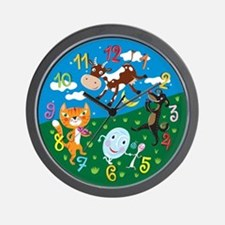 """Hey Diddle Diddle"" Wall Clock"