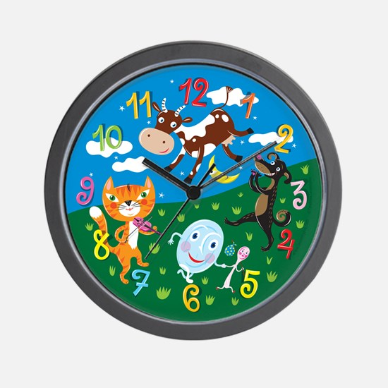 """""""Hey Diddle Diddle"""" Wall Clock"""