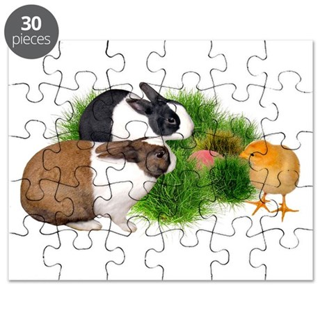 Dutch Bunnies with Chick Puzzle