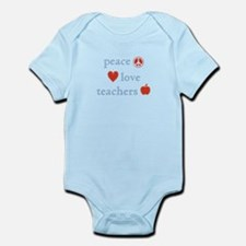 Peace, Love and Teachers Infant Bodysuit