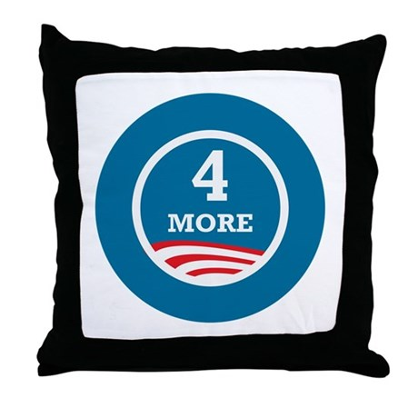 4 More Obama Throw Pillow