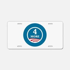 4 More Obama Aluminum License Plate