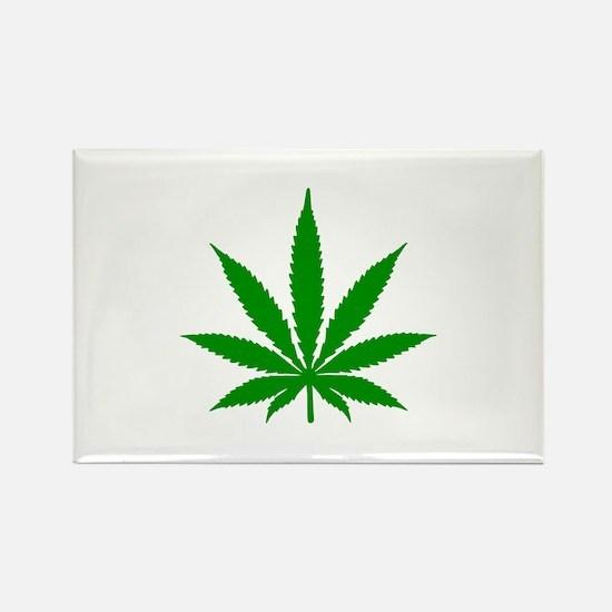 Marijuana Leaf Rectangle Magnet