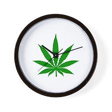Marijuana Leaf Wall Clock