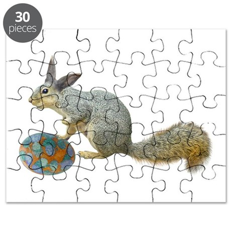 Easter Squirrel with Egg Puzzle