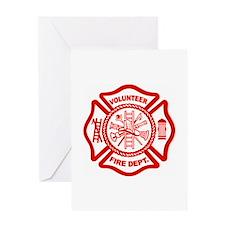 VOLUNTEER FIRE Greeting Card