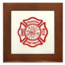 VOLUNTEER FIRE Framed Tile
