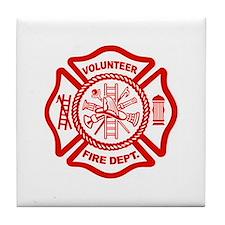 VOLUNTEER FIRE Tile Coaster