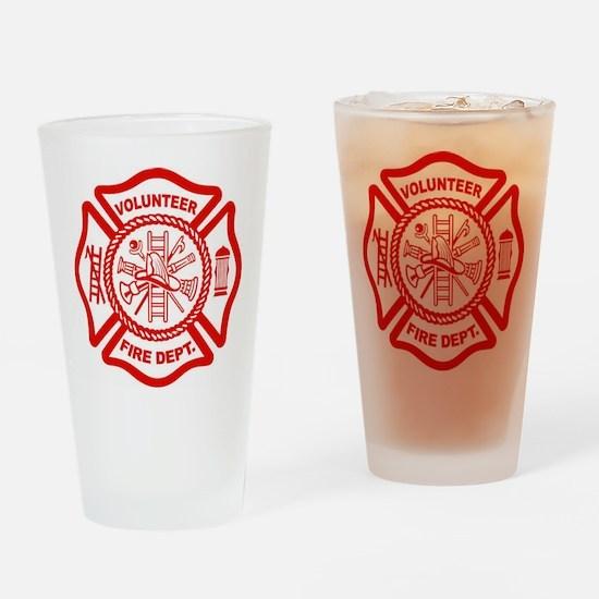 VOLUNTEER FIRE Drinking Glass