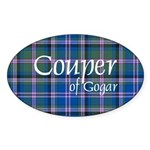 Tartan - Couper of Gogar Sticker (Oval 10 pk)