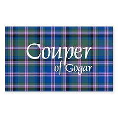 Tartan - Couper of Gogar Sticker (Rectangle 10 pk)