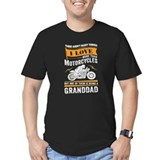 Motorcycle granddad Fitted Dark T-Shirts