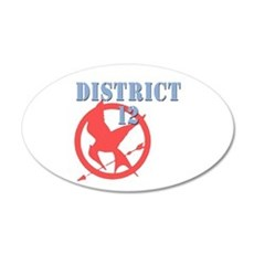 District 12 Hunger Games 22x14 Oval Wall Peel
