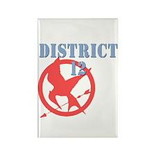 District 12 Hunger Games Rectangle Magnet
