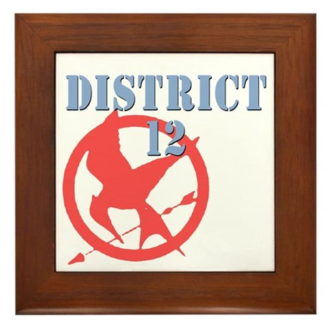 District 12 Hunger Games Framed Tile