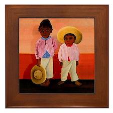 Diego Rivera Hijos de Compadre Art Framed Tile