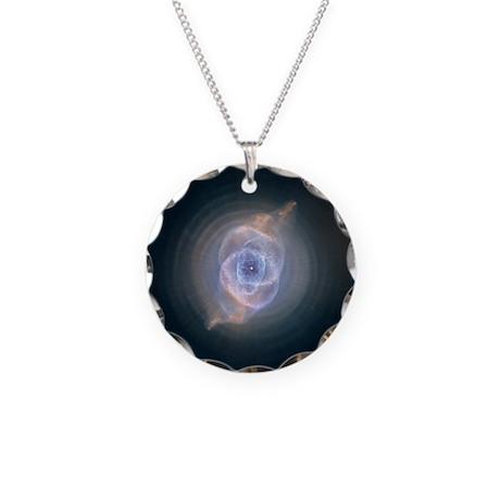 Cat's Eye Nebula Necklace Circle Charm