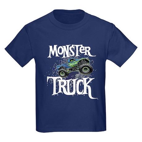 Monster Truck Kids Dark T-Shirt