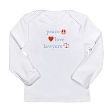 Peace, Love and Lawyers Long Sleeve Infant T-Shirt