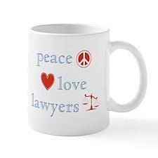Peace, Love and Lawyers Small Mug