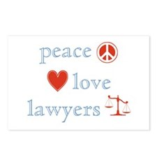 Peace, Love and Lawyers Postcards (Package of 8)
