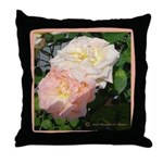 Mama's Two Beautiful Roses Throw Pillow